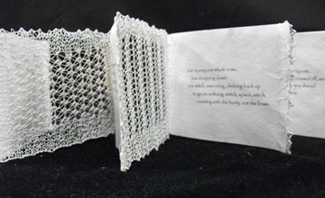 Susan Blockwell Ramsey, Knitting Lace, Handmade paper, Knit Cotton Lace, 2008