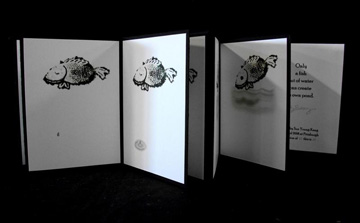 Sun Young Kang, Only a Fish Out of Water Can Create Its Own Pond, Digital Printed Hand Drawn Image on Accordion Book, 2008