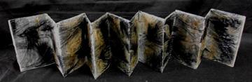 V VanAmeyden, Untitled (Murder), Transfer on Teabags, Polyurethane, Thread, 2010