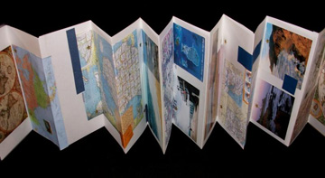 Eve Reid, Papermaker license plate book, paper collage and metal, 2010, NFS