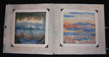 Judy Finnegan, God's Sketchbook, Paper, Glass, Ribbon, Fabric, 2006