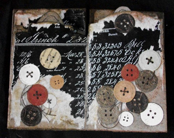 Mary C. Leto, Button Tales, Handmade paper, 2010