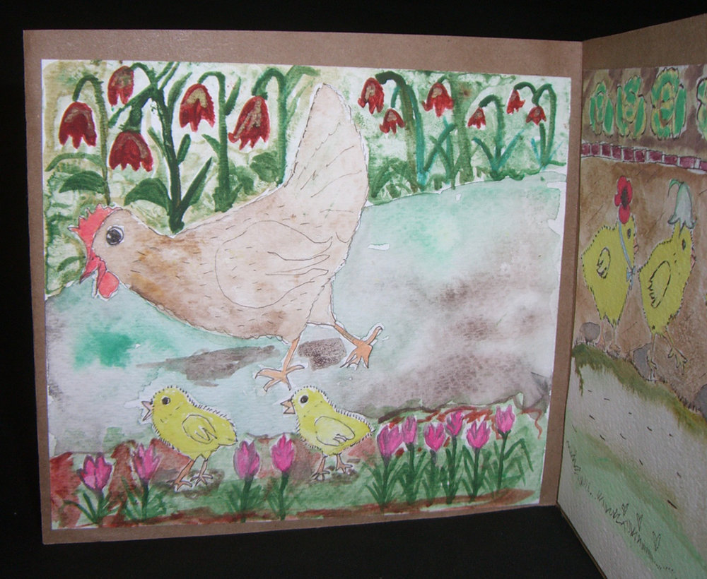 "Susana Víscarra, ""Poppy,"" Watercolors, Ink, 2013, Madison, AL"