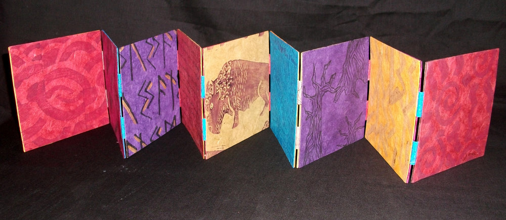 "Susan Reynolds, ""Remnants,"" Lokta paper, Bristol Board, ink, acrylic paint, PVA Glue, 2014, Hillsboro, NM"