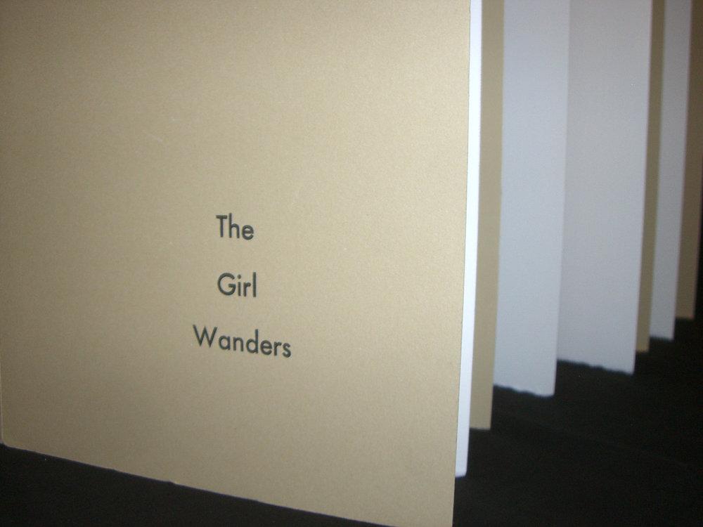 "Lisa Olson, ""The Girl Wanders,"" Letterpress and Screenprint, 2010, Belmont, MA"