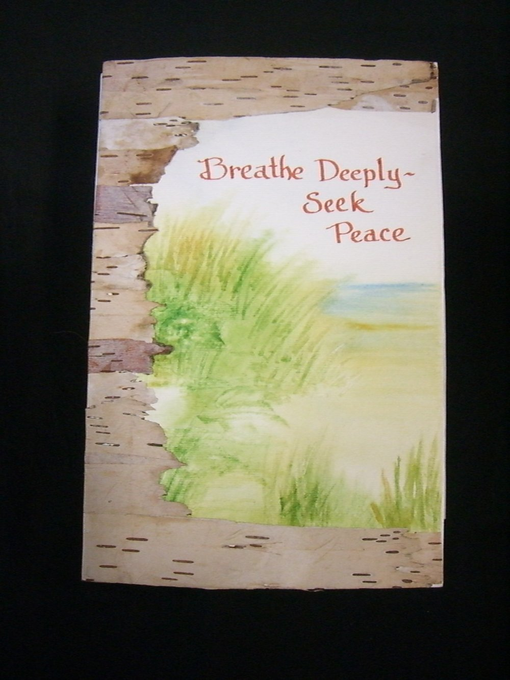 "Martha Schneider, ""Breath Deeply--Seek Peace,"" Mixed Media with watercolor,"" 2013, Newark Valley, NY"