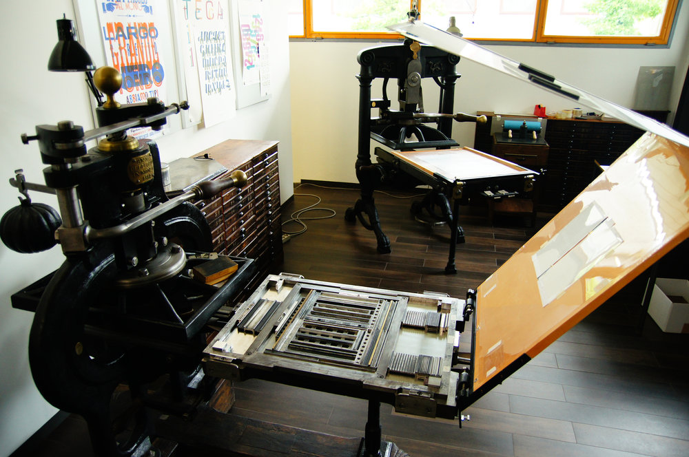 Antique Presses at Tipoteca