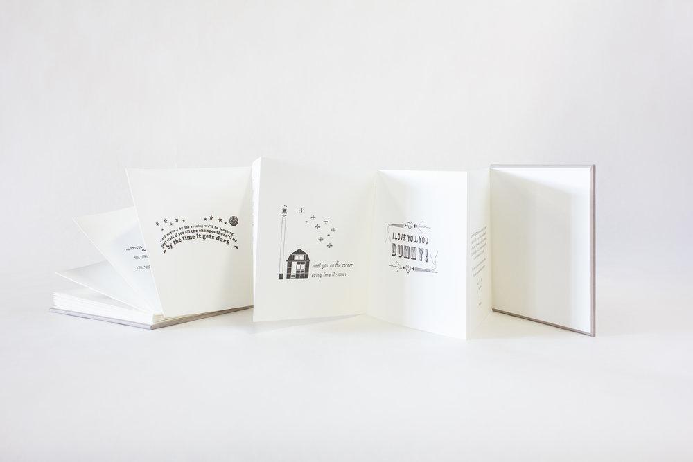 """Jennifer Farrell, Starshaped Press, """"Put It In A Letter,"""" Letterpress, 2018, $150, Chicago, IL"""