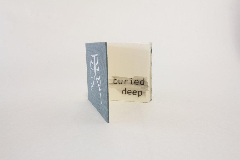 "Sarah Rodriguez,""Buried Deep,"" Ink and pencil on paper, 2018, $40, Murfreesboro, TN"
