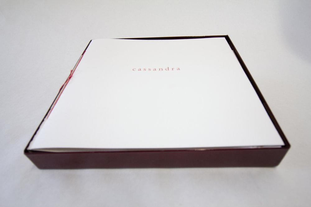 "MaryHeebner,""Cassandra,"" Fine art book with original collage embellishments, 2019, $4,000, Santa Barbara, CA"
