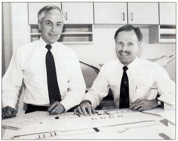 "AVB's founding principals Joe Gesmundo & Daryl Rynd from a 1991 feature in ""Business Digest"" magazine."
