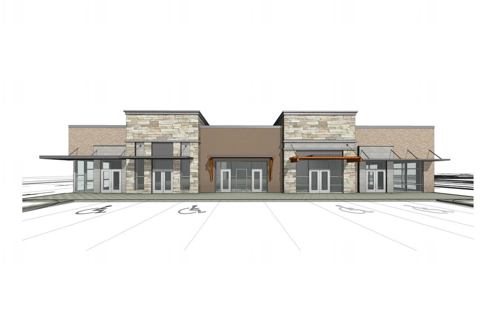 New Gull Road Retail Center Rendering