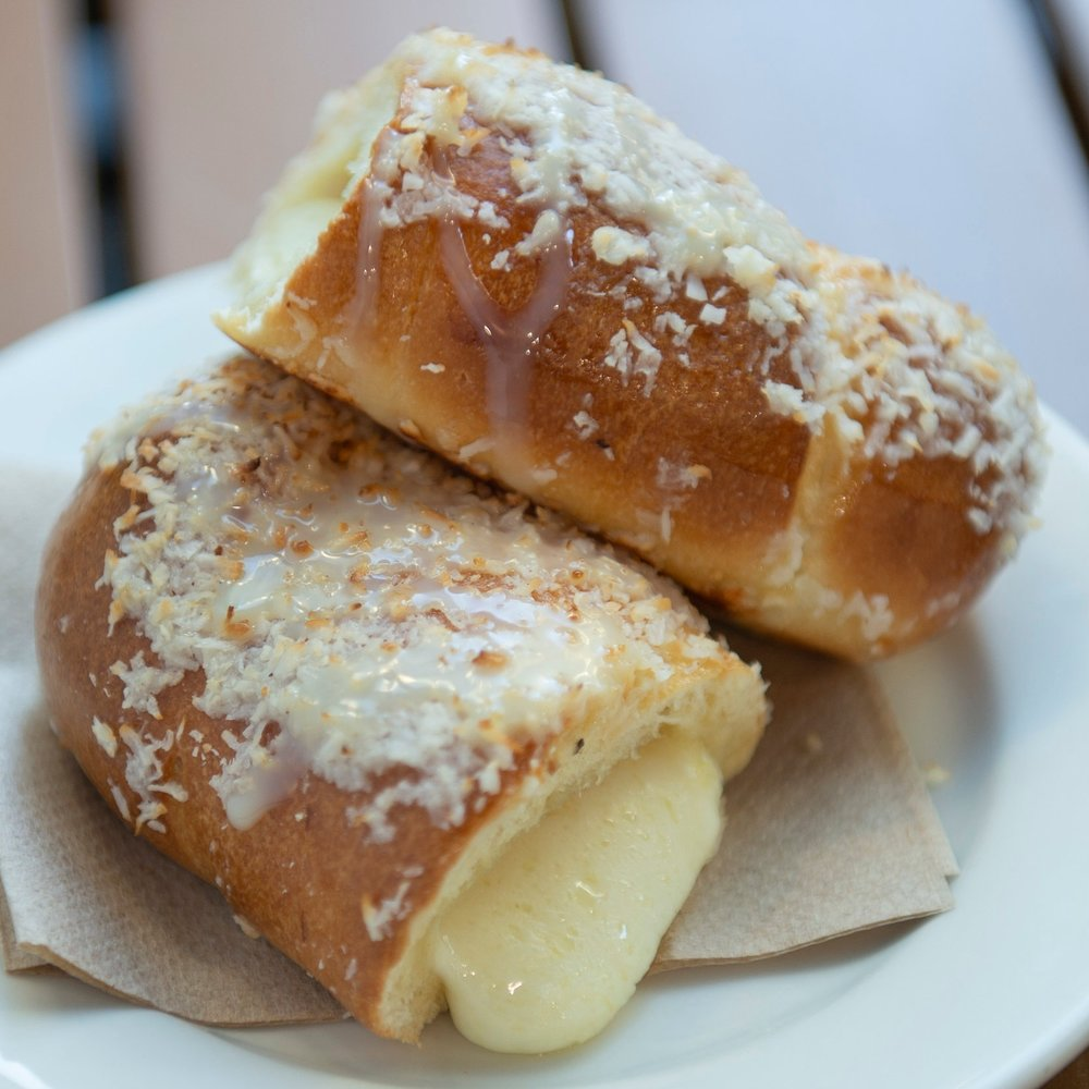 Toasted Coconut Cheese Roll