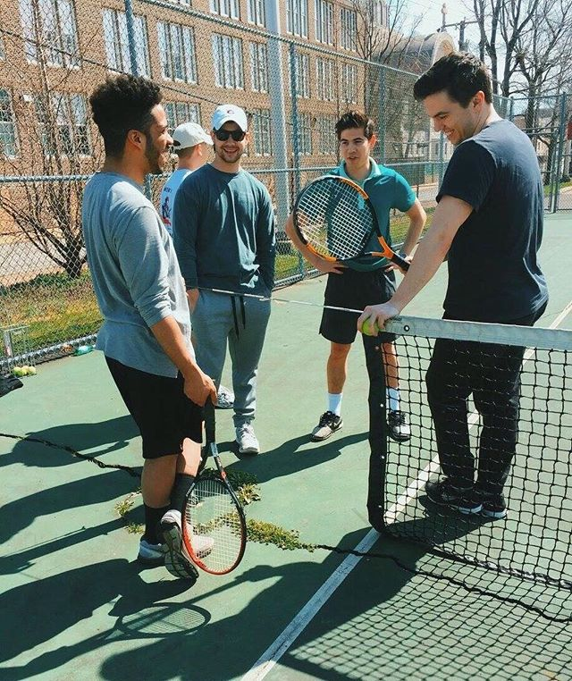 Tennis: A game steeped in tradition, best played by sporting gentlemen and hungover city dwellers. . . . . .  #tennis #tenniscourt #boys #crew #hangover #postgrad #postgradlife #fastcompany #millenial #millenials #philly #phillygram #wework #phillypulse #phillystyle #nolibs #philly_art #phillylife #phillyphotographer #whyilovephilly #philadelphia #lovephilly #igers_philly #visitphilly #cityofbrotherlylove