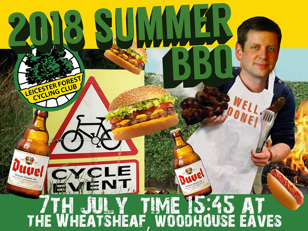 - Please join us at our Summer BBQ,The WHeatsheaf Inn,Woodhouse Eves 7th July 2018 15:45 onwards.The Wheatsheaf Inn,Brand Hill, Woodhouse Eaves, Loughborough LE12 8SSTickets are as follows,Adult members £6*Adult non-members £10Child members £3*Child non-members £5*Club members costs are a little lower as they have been subsidised by the club.FOOD WILL BE SERVED AT 4PM PROMPTLY - PLEASE PLAN ACCORDINGLY. Roller Racing will begin once we've all had a bit of time to let our food go down!