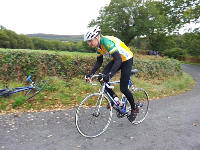 Ant racing up the Polly Botts Hill Climb in 2013