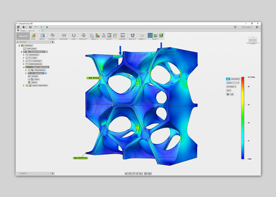 HAUER REVISITED | mode lab - Analyzing and optimizing structural surfaces for injection-molded modular screens