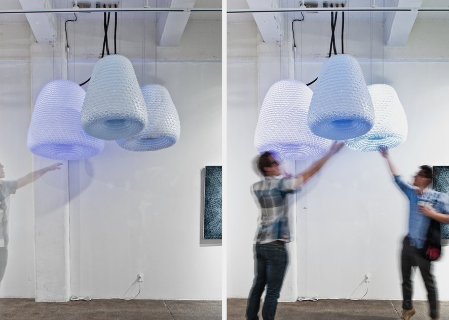 AETHER ENVIRONMENT | ELGA WIMMER GALLERY - An interactive light experience made possible through physical computing
