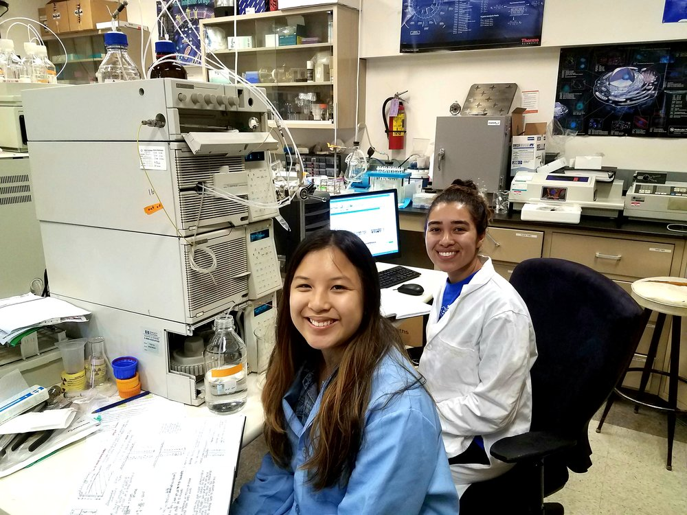 Two students in the lab.