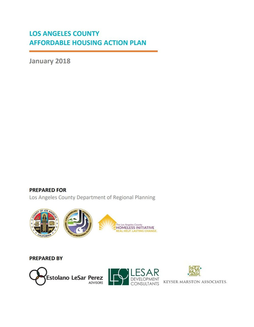 LA County<br>Affordable Housing Action Plan