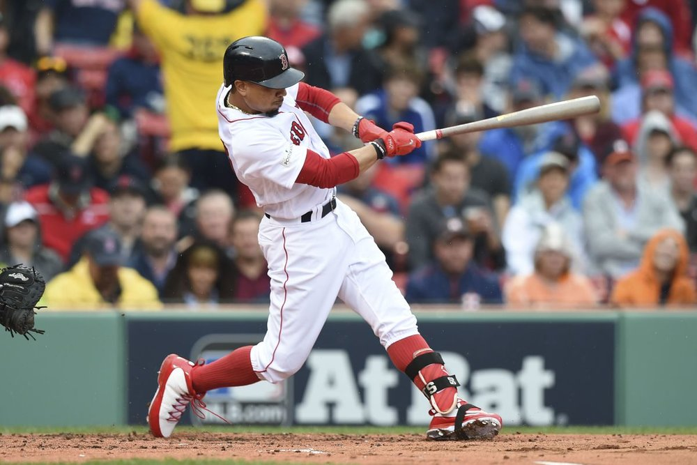 Betts is currently hitting .365