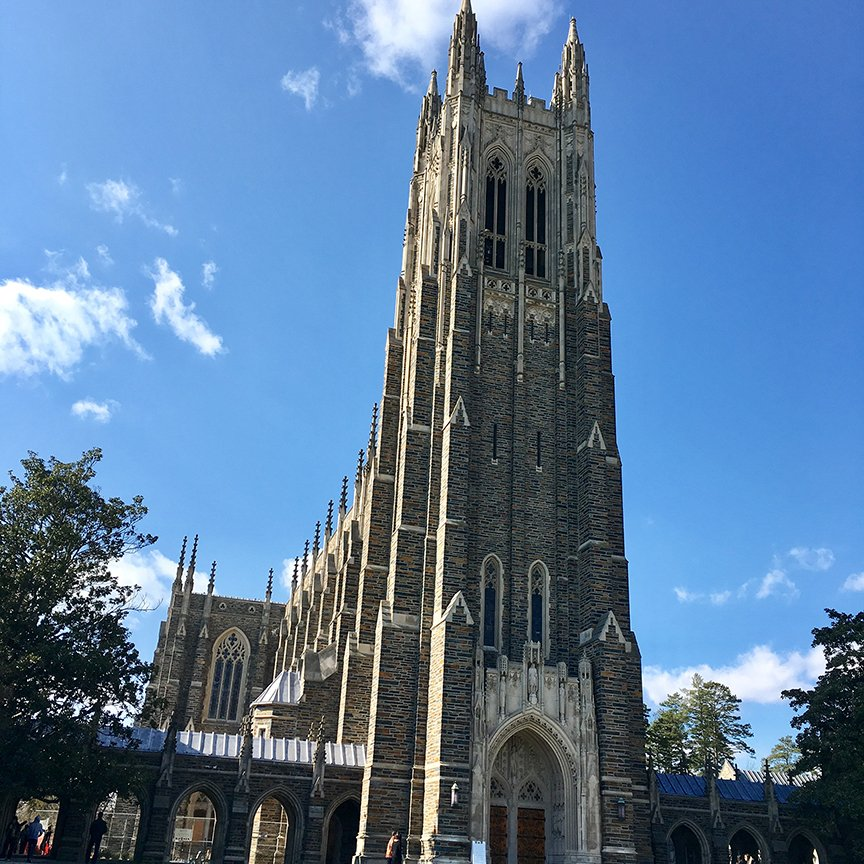 The Duke Chapel, Duke University.