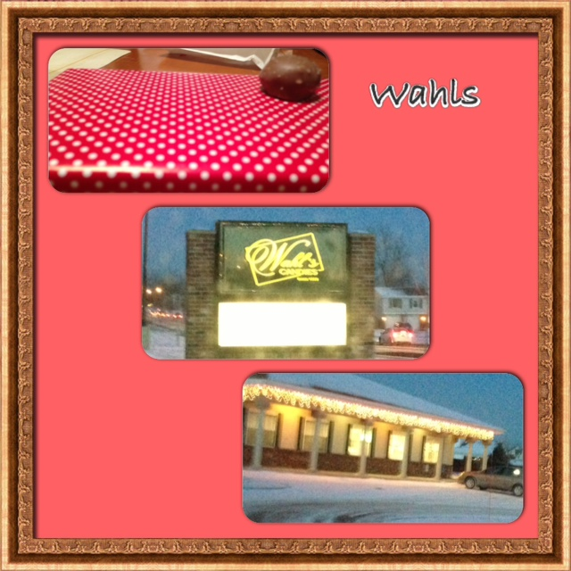 Wahl's Candies  A box of Chocolate coverd Cherries & 1 Buttercream Raspberry