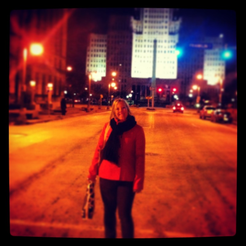Standing in the street in front of City Hall I believe in Buffalo