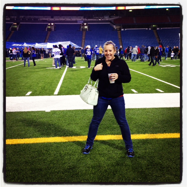 On the field at the Ralph!