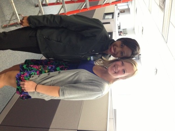 Myself with Brittni Smallwood - a reporter for Channel 4