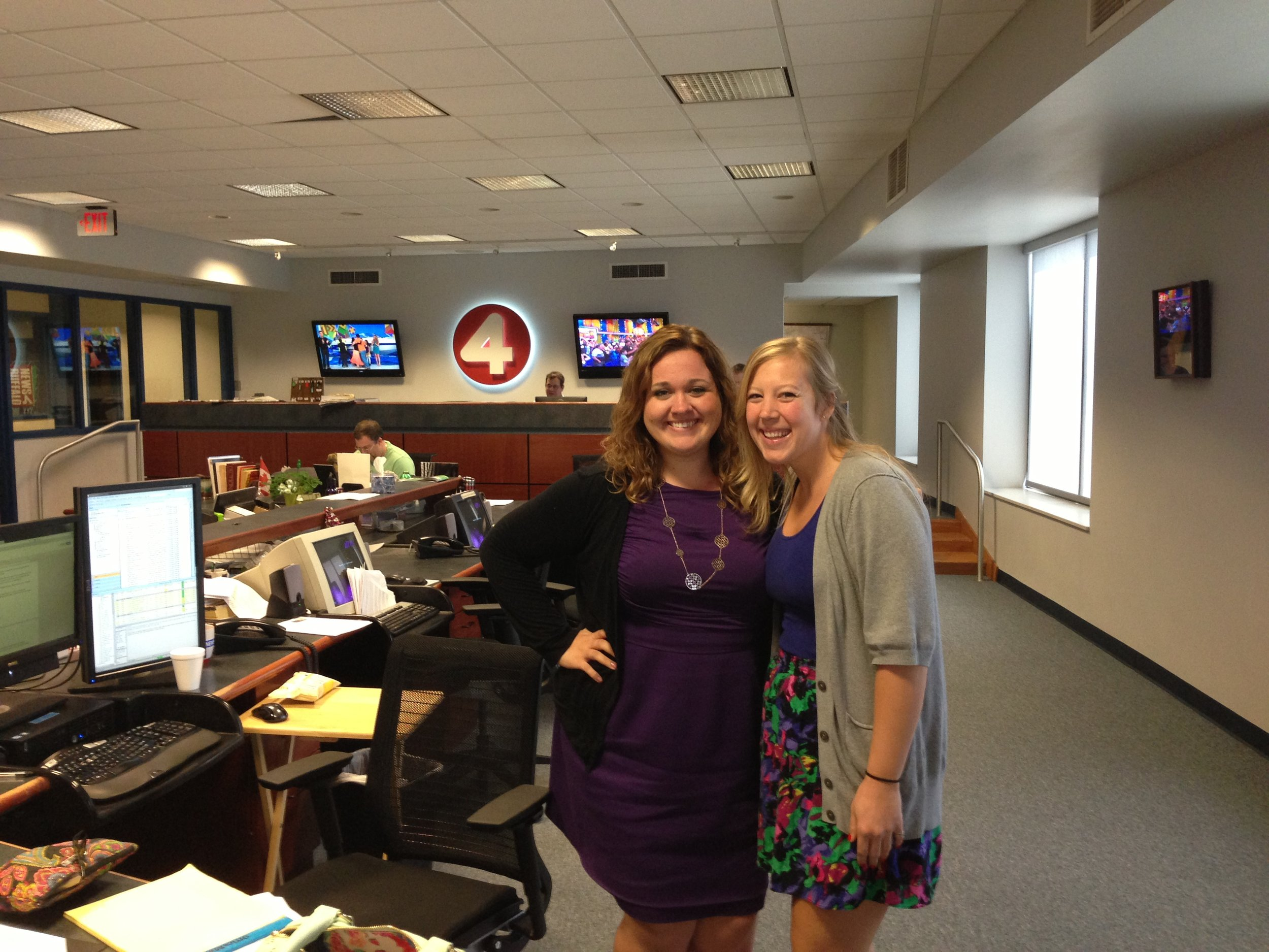Me striking a pose with the lovely Emily Lenihan. She is the online guru for Winging It Buffalo Style! and News 4