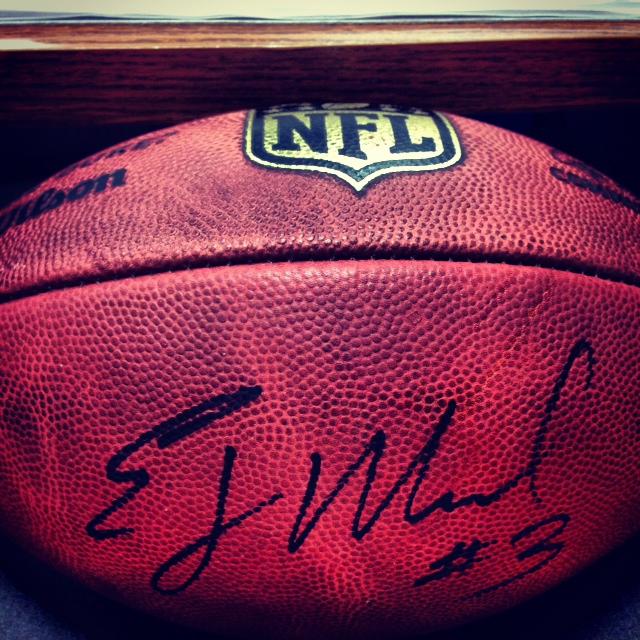 EJ Manuel Autographed Football