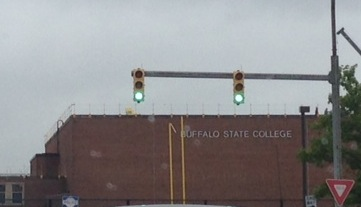Driving past Buff State - brings back memories