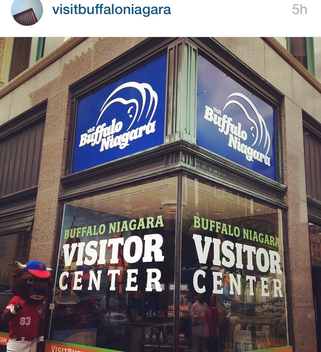 visit buffalo niagara photo - buster bison
