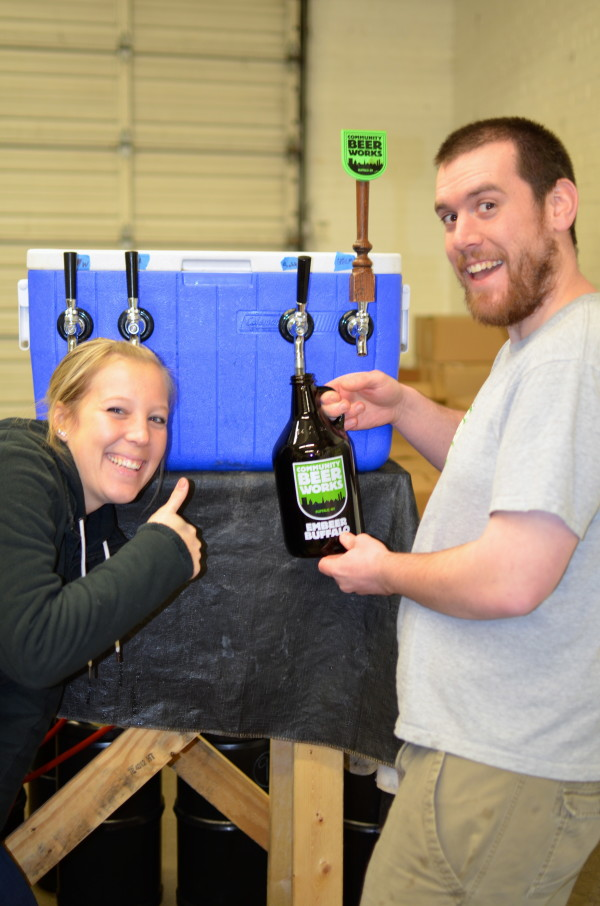 Dan filling up my growler I purchased