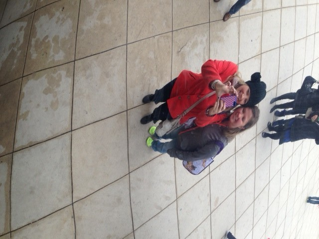 Our reflection from the Bean