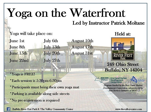 yoga on the waterfront