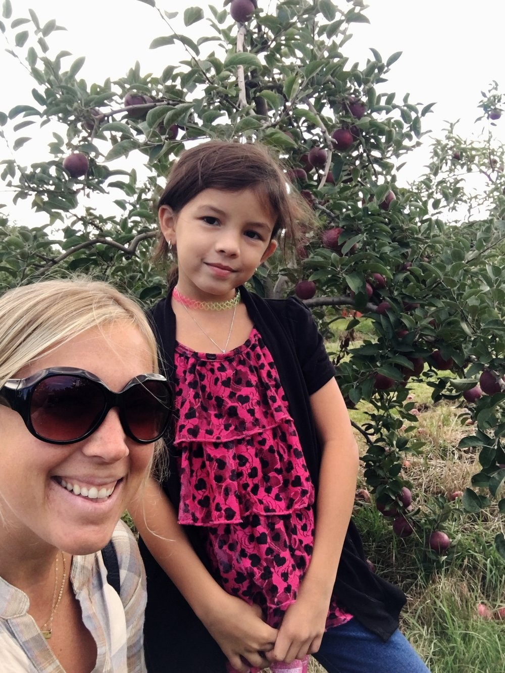 Savy and I apple picking