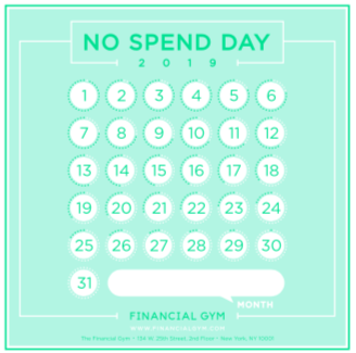 no spend day tracker