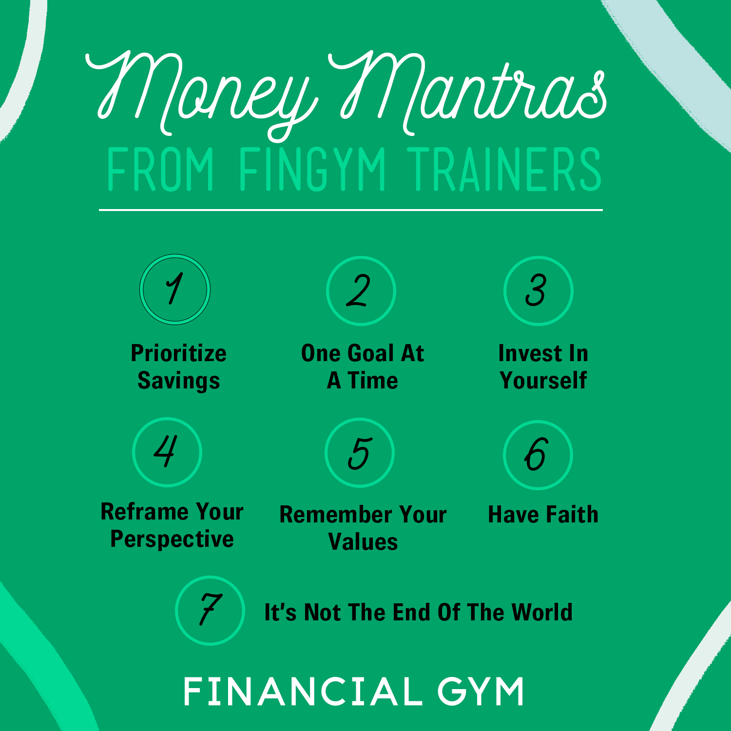 your money mantra quotes from the financial gym trainers the
