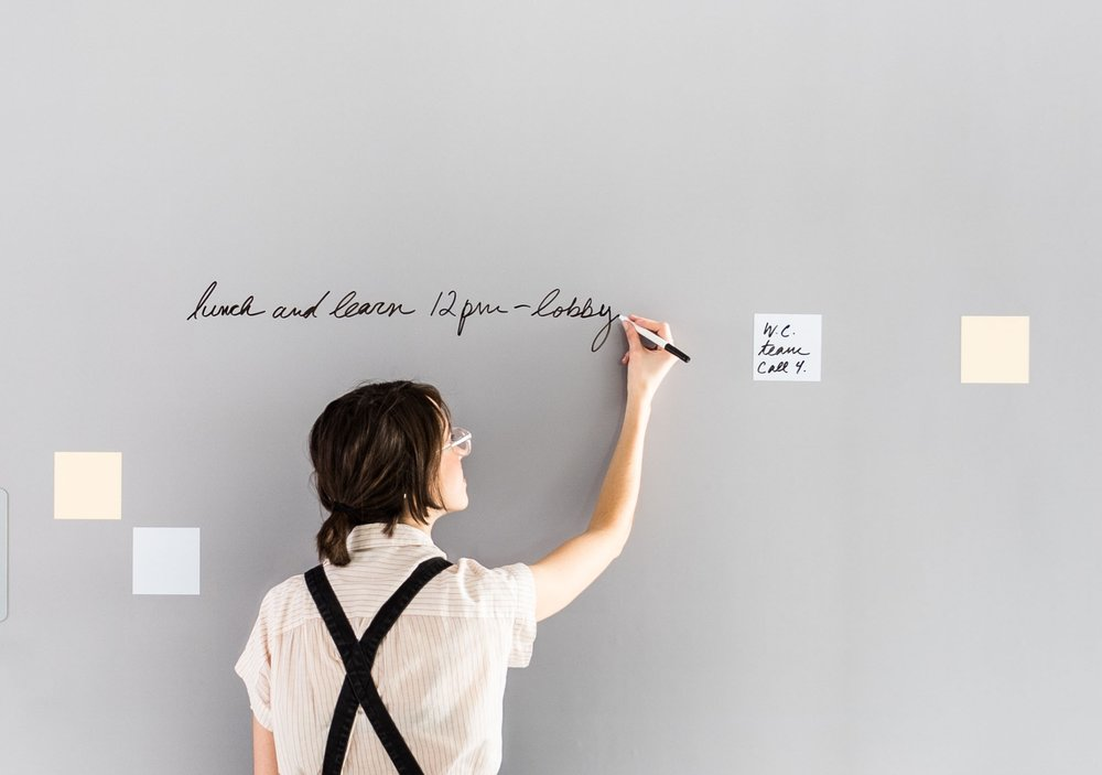Foster: Work - Our Intelligent Wall Coverings™ with dry erase integration are designed to elevate productivity and collaboration in a workspace setting. The Foster system is designed to maximize functionality & guaranteed to never leave marker ghosting.