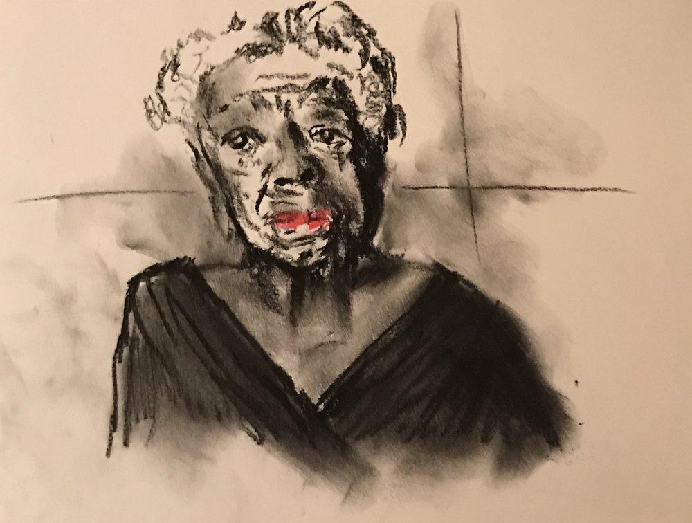 Maya Angelou, pastel,12 x 9,$55
