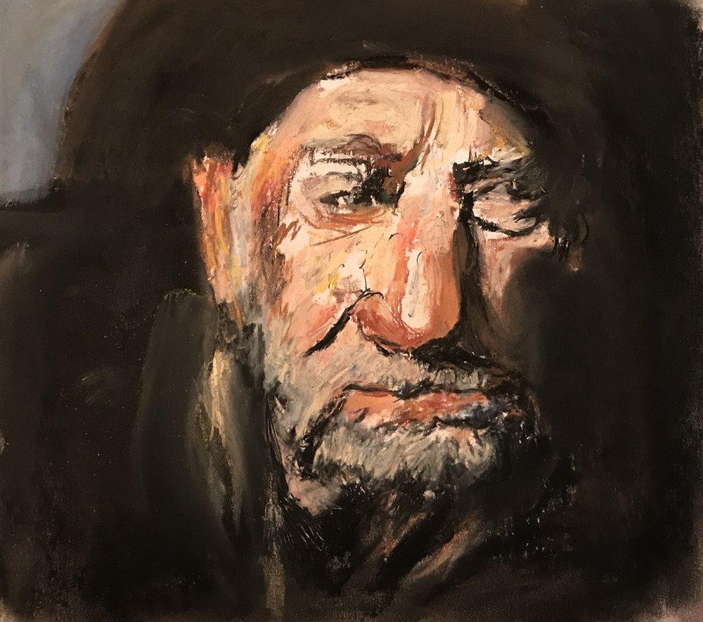 Old Willie, pastel, 12x9, $40