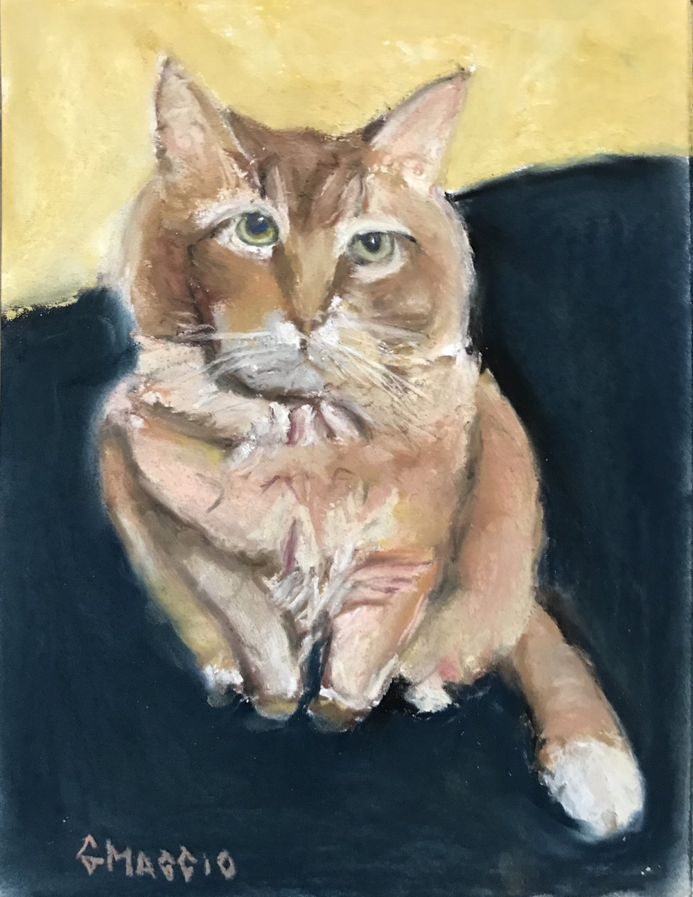 Norman, pastel, 9x12, SOLD