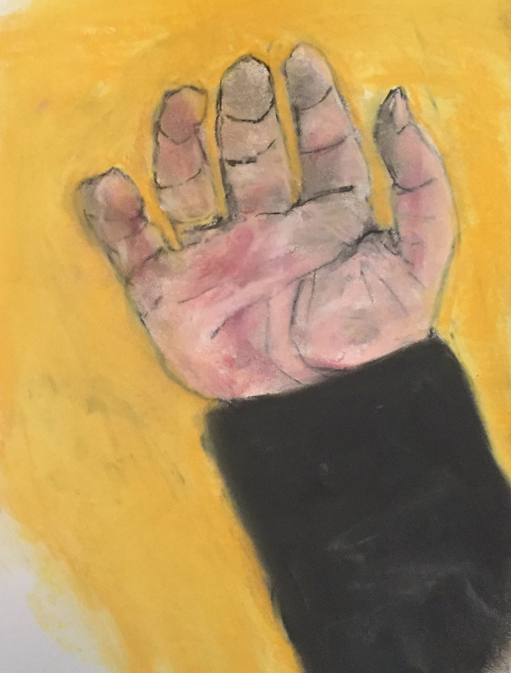 Black sleeve, pastel, 11x14, $45