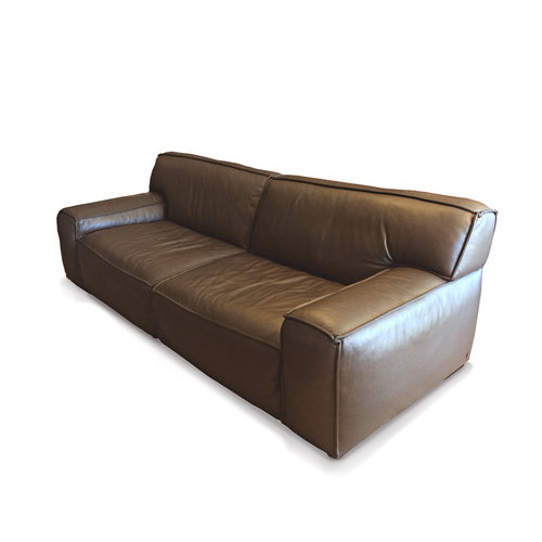 american leather brown leather sofa - American Leather Sofa
