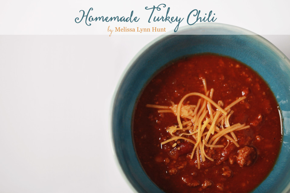 homemade turkey chili recipe