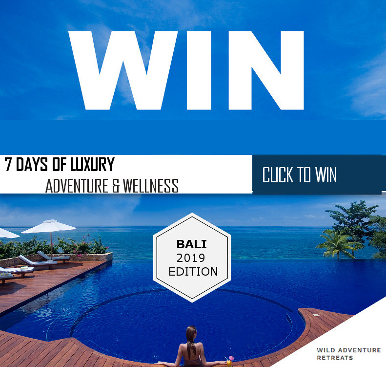 free retreat win getaway travel yoga meditation bali adventure