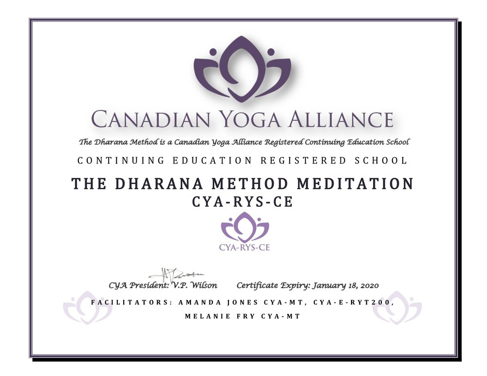 Canadian Yoga Alliance - Registered Yoga/Meditation School - Continuing Education