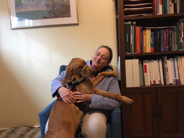 Cindy Booker-Bingler, LCSW    Clinical Therapist   Cindy has extensive experience working with children,adolescents, adults and families in the intensive Home and Community Treatment program. As the former Director of the Emmaus Shelter, she worked with the homeless and at-risk homeless populations. Cindy uses her dog, Chara, with Animal Assisted Canine therapy to improve clients' social,emotional, or cognitive functioning. She also focuses on helping clients with transitions, trauma, self-regulation, and alcohol and substance use, including Medication Assisted Treatment for opioid addiction. Cindy is DEEP certified..
